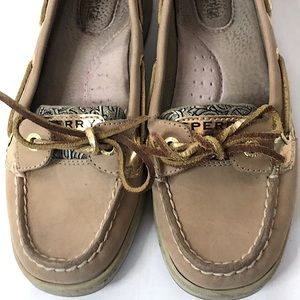 Sperry  Topsiders With Gold Metallic Accent